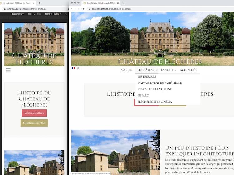 Site Internet du Château de Fléchères