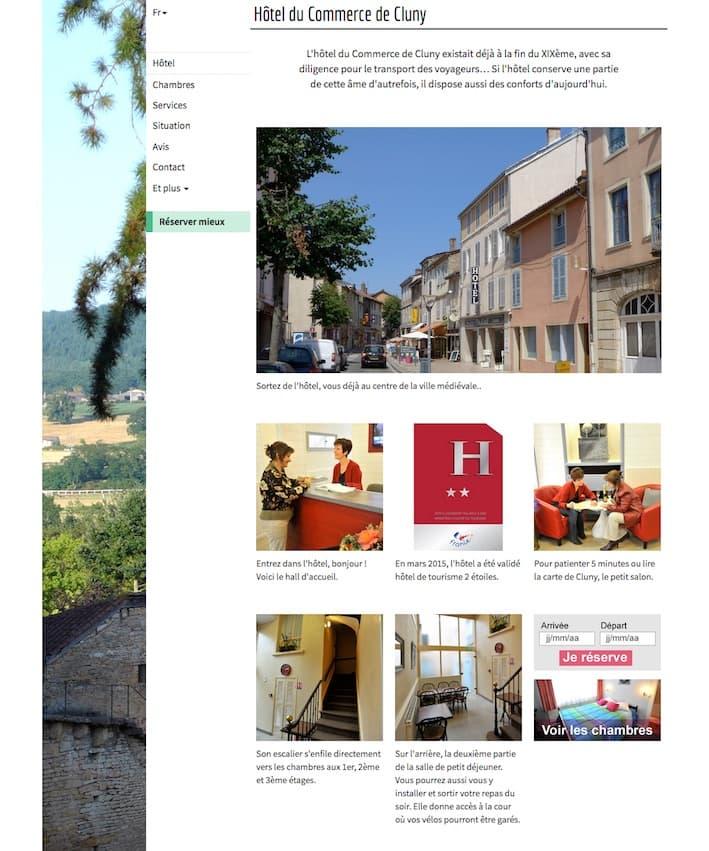 Site Internet pour un hôtel