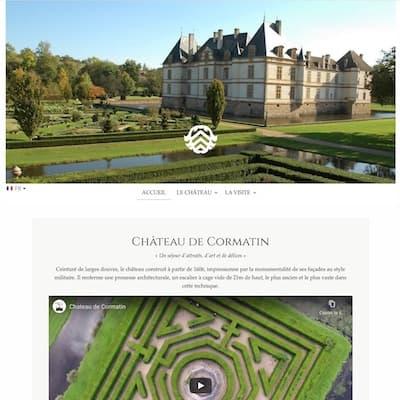Nouveau site Château de Cormatin