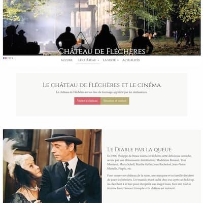 Nouveau site Internet du Château de Fléchères