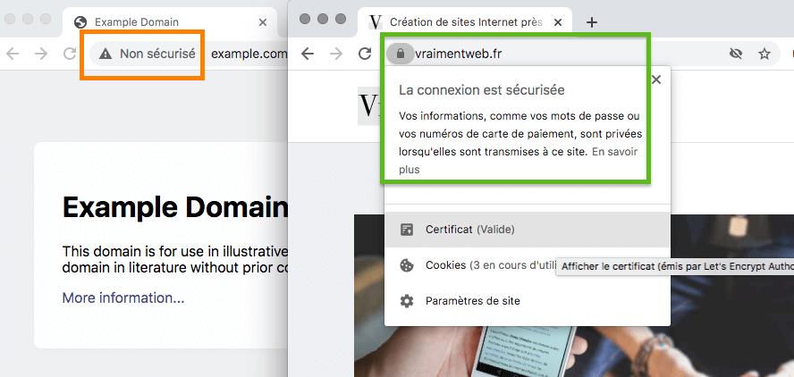 Site Internet sécurisé HTTPS