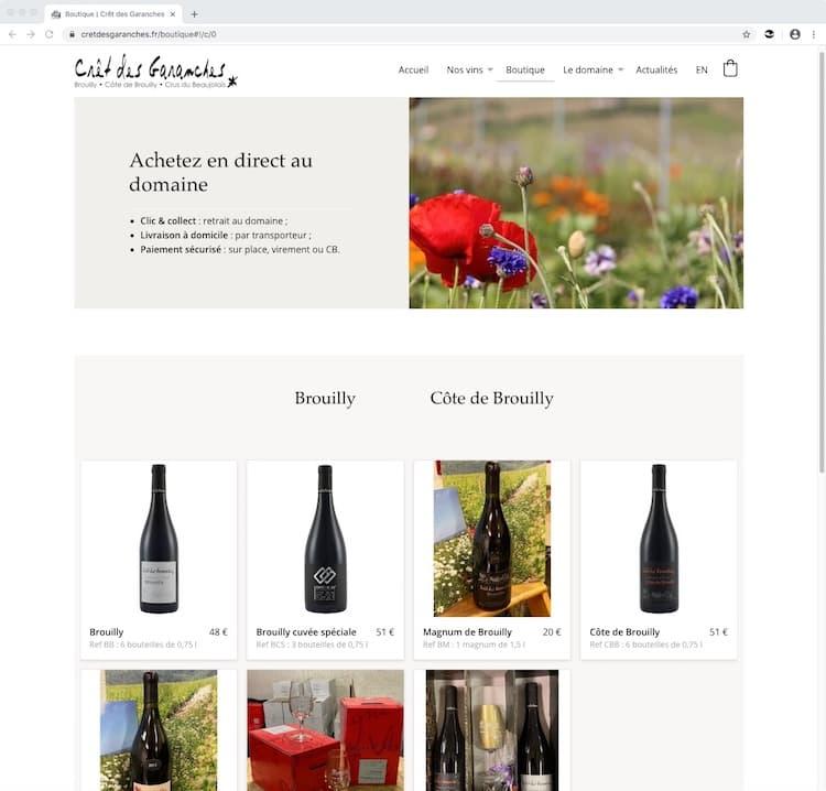 Site Internet Clic & collect
