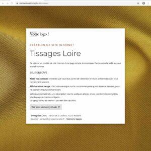 Un site Internet statique d'une page pour textiles, tissages, façonnage