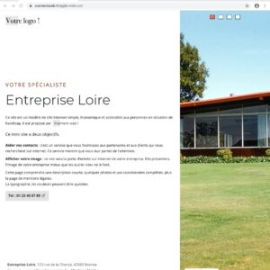 Un site Internet statique d'une page avec diaporama